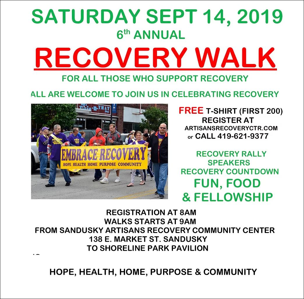 recovery walk poster